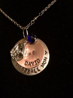 Hand Stamped Jewelry Baseball Mom Necklace by SisterCharm06, $45.00