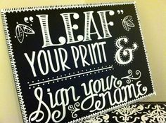 Handwritten 11x14 Guestbook Thumbprint Tree Chalkboard Sign on Etsy, $30.00