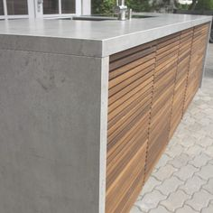 """Exceptional information """"outdoor kitchen countertop tile"""" is available on our Inter… – Kitchen Furniture Storage Outdoor Bbq Kitchen, Backyard Kitchen, Rustic Outdoor, Outdoor Dining, Modern Outdoor Storage, Outdoor Kitchens, Wood Concrete, Concrete Kitchen, Rustic Kitchen Design"""