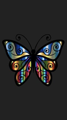 By Artist Unknown. Qhd Wallpaper, Skull Wallpaper, Unique Wallpaper, Butterfly Wallpaper, Wallpaper Backgrounds, Iphone Wallpaper, Gray Wallpaper, Colorful Wallpaper, Abstract Backgrounds