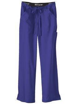 Greys Anatomy drawstring waist cargo scrub pants. Main Image