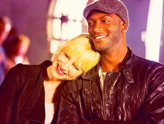 Beth Riesgraf and Aldis Hodge (Parker and Hardison) Leverage. I love this show!