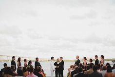 The Ceremony on the Riverside Terrace #Charleston Harbor