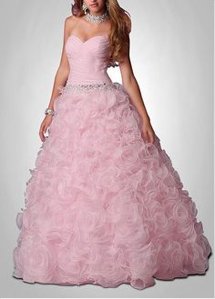 Amazing Organza Satin Ball Gown Strapless Sweetheart Neckline Beaded Drop Waist Full Length Ruffled Prom Dress Prom Dr