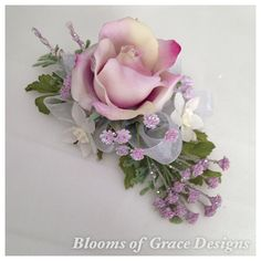 Purple Wrist corsage lavander rose.