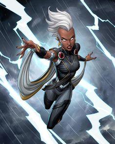 ArtStation - Storm, Patrick Brown Marvel Comic Character, Comic Book Characters, Marvel Characters, Female Characters, Comic Books, Marvel Comics Art, Marvel Dc Comics, Marvel Heroes, Storm Comic