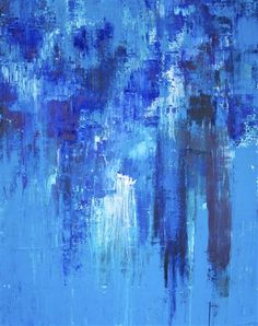 I have a painting like this at home and when I'm feeling restless I stare at this painting. Something so calm about blue.