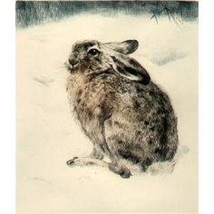 Fleeing Hare etching Kurt Meyer-Eberhardt | Kurt Meyer ...