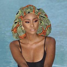Silk Bonnet, Hair Bonnet, Bad Hair Day, My Hair, Curly Hair Styles, Natural Hair Styles, African Accessories, African Fashion, African Style