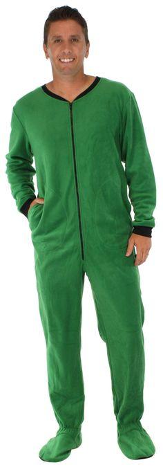 39ad39542251 PajamaMania Men s Fleece Footed Onesie Pajamas