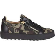 Giuseppe Zanotti Camouflage Kriss Sneakers ($460) ❤ liked on Polyvore featuring shoes, sneakers, camouflage sneakers, camouflage footwear, camouflage shoes, giuseppe zanotti shoes and giuseppe zanotti