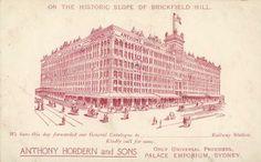 Postcard, 'Anthony Hordern & Sons New Palace Emporium', Sydney, Australia, C 1905 - Powerhouse Museum Collection