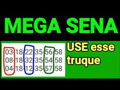 Mega sena - use esse truque - YouTube Multiplication Chart, Buick Riviera, Digital Marketing, Games, Blog, Youtube, Make Money Games, Winning The Lottery, Lucky Number