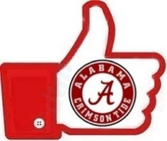 Thumbs up if you love the tide! Crimson Tide Football, Football Baby, Alabama Football, Alabama Crimson Tide, College Football, Nick Saban, Thing 1, Sweet Home Alabama, University Of Alabama