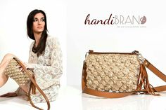Crochet bag...leather zipper with juts