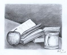 Still life with a book, pencil, artist Kristýna Pavluvčíková.