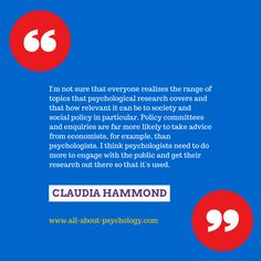 This quote comes from a great interview with award-winning broadcaster, writer and psychology lecturer Claudia Hammond. You can read the interview in full via the following link.  http://www.all-about-psychology.com/claudia-hammond.html  #psychology #ClaudiaHammond