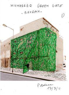 Muharraq, Bahrain, Green Gate   Vertical Garden Patrick Blanc