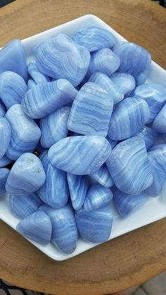 Blue Lace Agate First Quality Tumbled Stones from South Africa