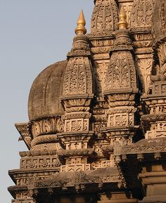 Stone Carvings on a Temple in Pune | India