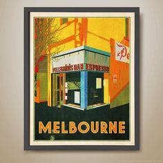 Pellegrini's Bar Espesso Cafe Melbourne  by HarperAndCharlie