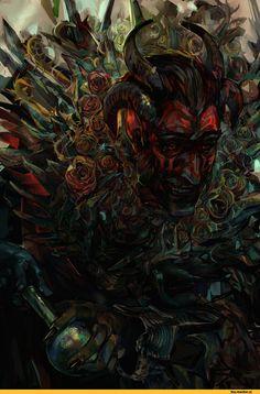TES art,The Elder Scrolls,фэндомы,Skyrim,Сангвин,Лорды Даэдра,TES Персонажи,Radishez