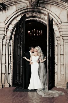 Bride and Groom standing in the beautiful doorway at Villa Siena! #wedding#villasiena#villasienawedding#villasienabride#arizona#door#doorway#bride#groom