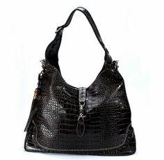 0f638ebde8 Gucci Handbags,Gucci New Jackie Crocodile Shoulder Bag 218491 Deep Coffe