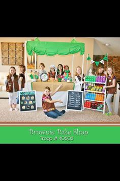 Girl Scout cookie booth inspiration. #BlingYourBooth #CookieBoss