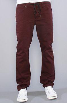 KR3W The K Slim Twill Pants in Burgundy : Karmaloop.com - Global Concrete Culture