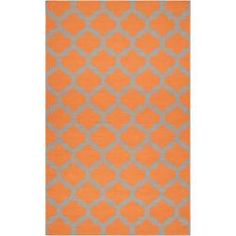 @Overstock - Hand-woven in wool, this rug features colors of pumpkin, flint gray. Its unique design will make this rug stand out in any home.http://www.overstock.com/Home-Garden/Hand-woven-Orange-Caroni-Wool-Rug-5-x-8/6765319/product.html?CID=214117 $277.99