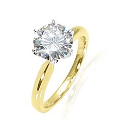 Moissanite solitaire- way better than a diamond (only a white gold band instead) WANT!