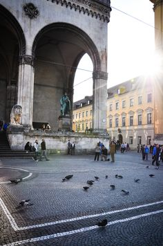 Odeonsplatz, Munich, Bavaria_ Germany