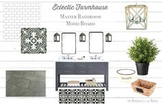 Eclectic Farmhouse Master Bathroom Inspiration and Mood Board by Simplicity in the South Modern Bathtub, Modern Farmhouse Bathroom, Man Bathroom, Master Bathrooms, Bathroom Ideas, Master Bedroom, White Shiplap Wall, Walk In Shower Designs, Bathroom Inspiration