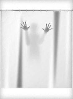 Scary Shower Curtain from Plasticland - LOL!