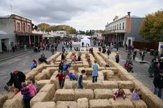 Hay maze - Clunes Booktown May 2012 from www.secretsmagazine.com.au