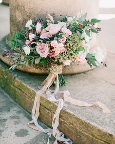 Pink wedding bouquet | Barcelona Destination Wedding Inspiration at The Labyrinth Park | Read #weddinginspiration full post on fabmood.com