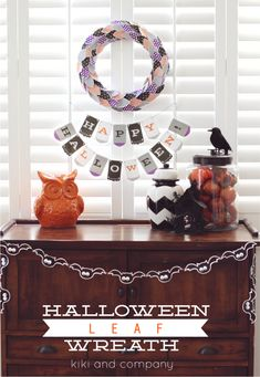 Halloween Leaf Wreath by Kiki&Company