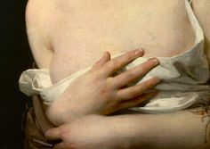 The Surprise (before 1827), Claude-Marie Dubufe. Detail