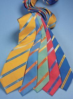 Mogador Silk Double Stripe Ties