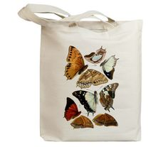 Butterflies Flying Insects 18 Eco Friendly Canvas Tote by idiopix