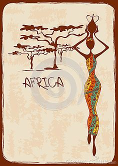 Illustration with beautiful African woman by Annykos, via Dreamstime