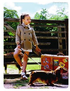 Vogue enfants 2011 child and dachshund photo Little People, Little Ones, Little Girls, Baby Girls, Little Girl Fashion, Kids Fashion, Travel Fashion, Style Fashion, Dachshund Love