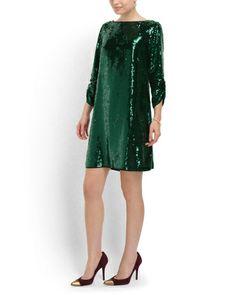 Emerald Sequined Tara Dress - Party Dresses - T.J.Maxx