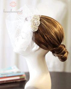 Bridal Veil Crystal Rhinestone Embellishment Double by beaubouquet, $145.00