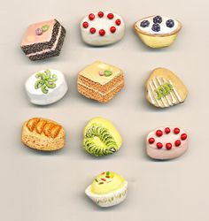 Pastry Button Lot 1 - set of 10 by AnnieFrazier on Etsy