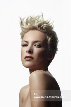Westrow FRISEUR Kurze Blonde weiblich Gerade Spikey Frauen Haarschnitt Frisuren hairstyles
