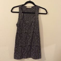 Tribal Print Charcoal Tank NWOT Tribal Print Charcoal Tank slightly see through  Perfect Condition. Never Worn. Size Small Forever 21 Tops Tank Tops
