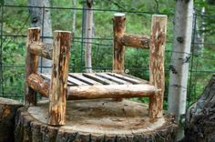 Rustic Log Bed, Newborn Bed Photo Prop