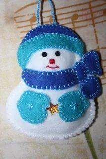 1 million+ Stunning Free Images to Use Anywhere Felt Christmas Decorations, Felt Christmas Ornaments, Handmade Ornaments, Handmade Christmas, Christmas Fun, Snowman Ornaments, Christmas Projects, Felt Crafts, Holiday Crafts
